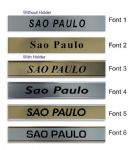 Sao Paulo Clock Name Plate |World Time Zone City Wall clocks Sign custom Plaque
